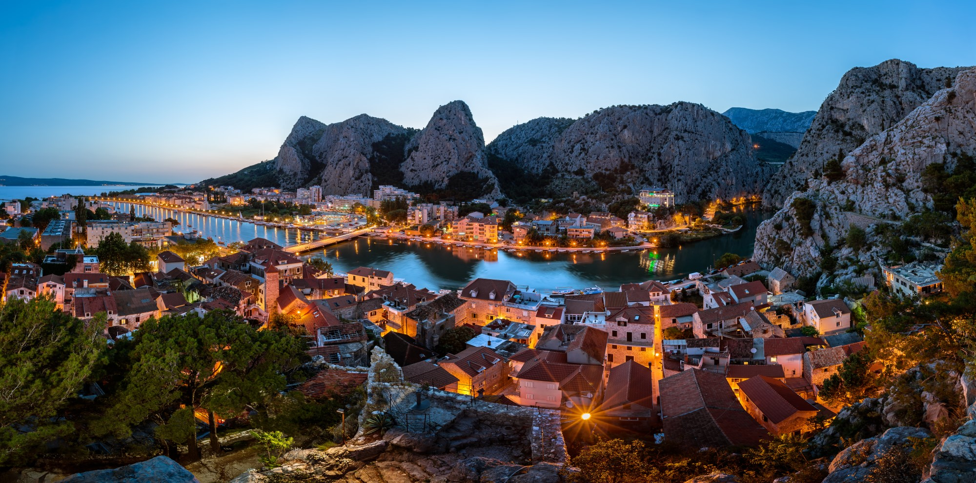 Omiš Night Panorama Excursion